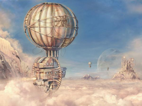 Flight Of Mechanical Balloon, Fiction 1