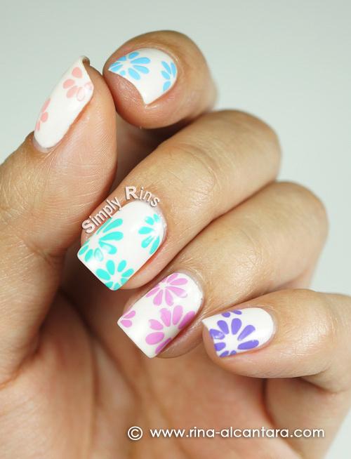 Pastel Floral Nail Art Design