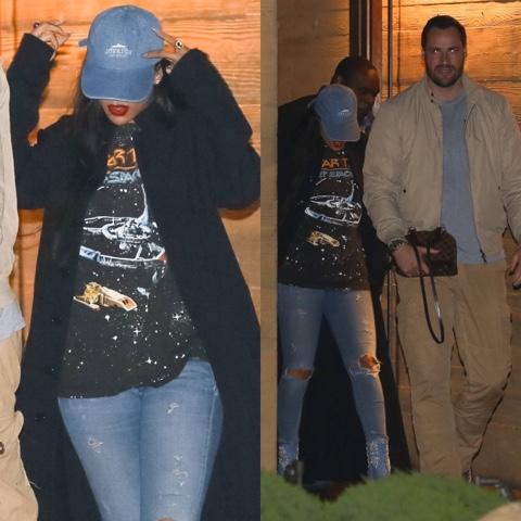 Rihanna wears Vintage 1993 Star Trek Tee