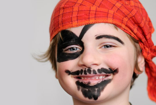maquillaje infantil de pirata