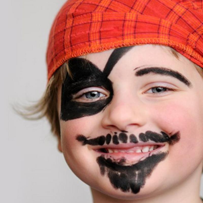 hacer un maquillaje infantil de pirata
