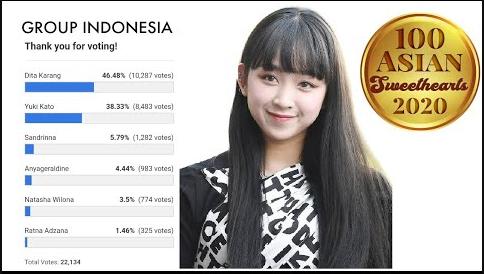 dita secret number 100 asian sweethearts 2020 indonesia