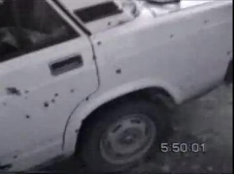 Расстрел боевиков в машине на Кавказе