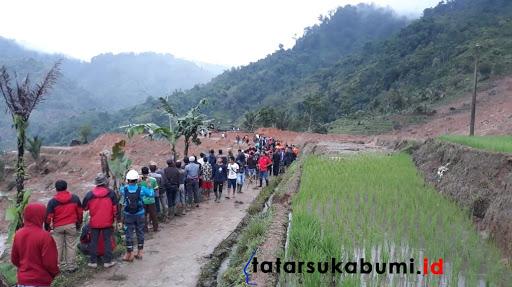 Pemetaan Lokasi Longsor Cisolok Sukabumi, 3600 Meter Dibagi 6 Sektor