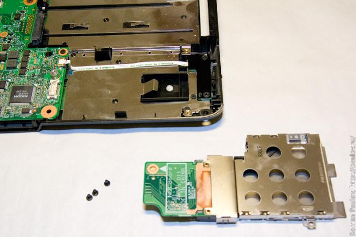 Как разобрать ноутбук Dell Inspiron 1525 39