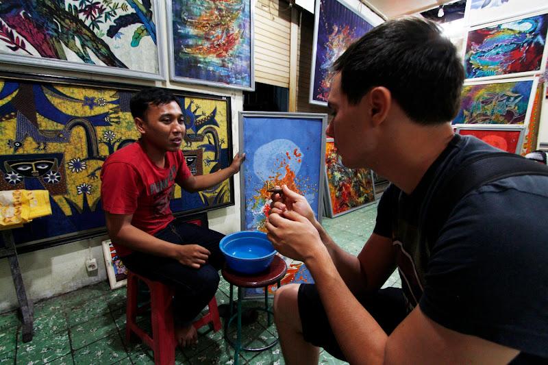 Preguntando sobre la técnica del batik