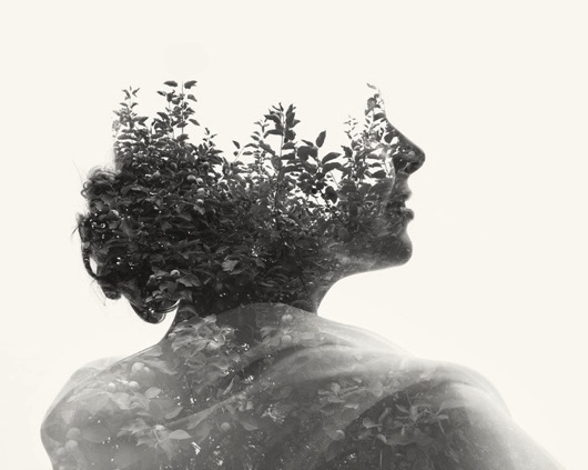 Multiple exposure photograph human with nature 4