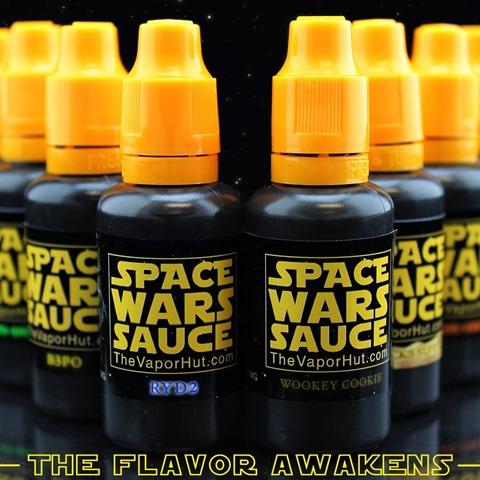 spacewarssauce thumb%25255B2%25255D - 【リキッド】THE VAPOR HUTからSPACE WARS SAUCE「DARTH VAPOR(ダース・ベイパー)」「SARLACK'S SUPPER(サーラックススーパー)」レビュー。【スターウォーズパロディ】