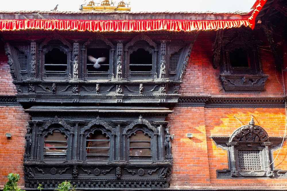 Beautiful architecture of Kumari Bahal, Kathmandu's Durbar Square, Nepal