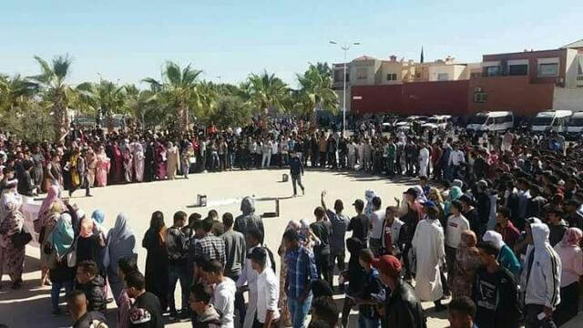 الطلبة الصحراويون بموقع اكادير يواصلون معركة الشهيد