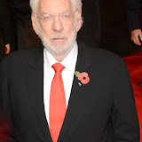 WWW.ENTSIMAGES.COM -      Donald Sutherland  at      The Hunger Games - Mockingjay - part 1 - UK film premiere at Odeon Leicester Square, London November 10th 2014Premiere of latest film in the Hunger Games franchise, which this time sees Katniss lead a rebellion against the tyrannical and corrupt Capitol.                                              Photo Mobis Photos/OIC 0203 174 1069