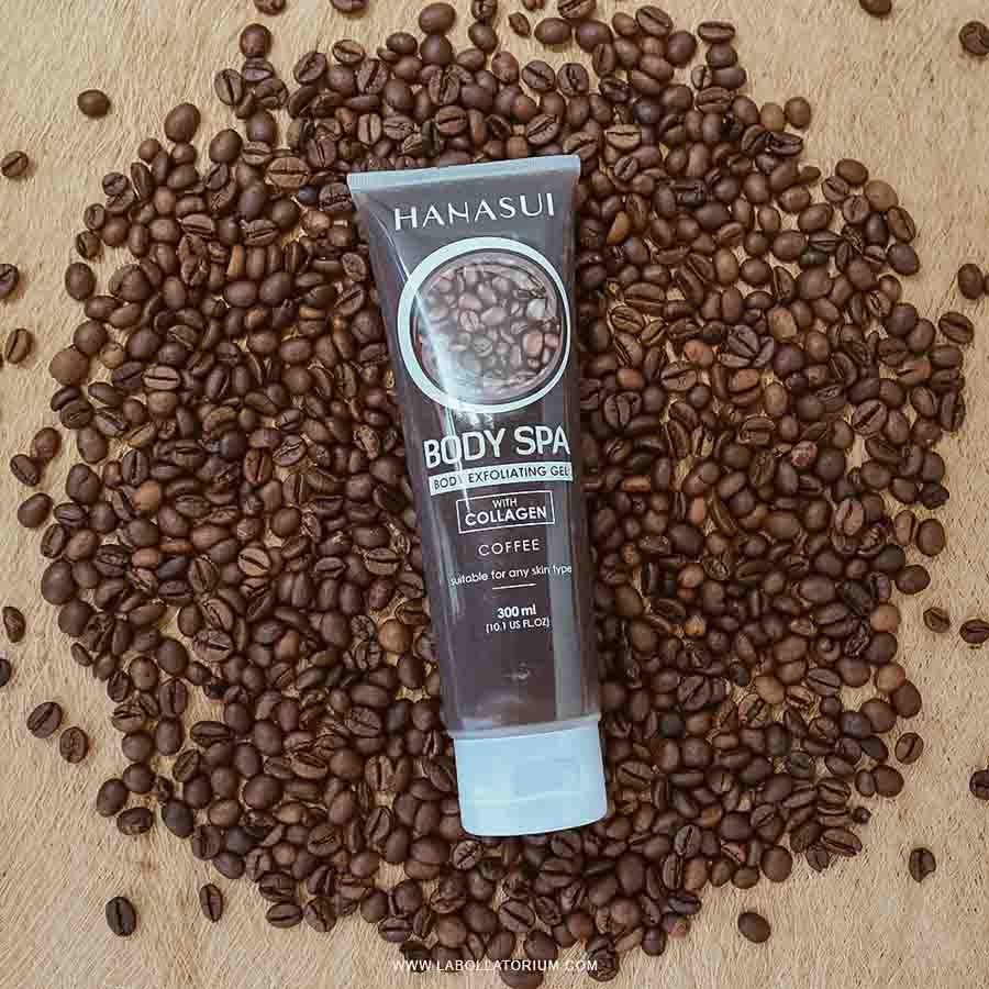 Review Hanasui Body Spa - Body Exfoliating Gel (Varian Coffee)