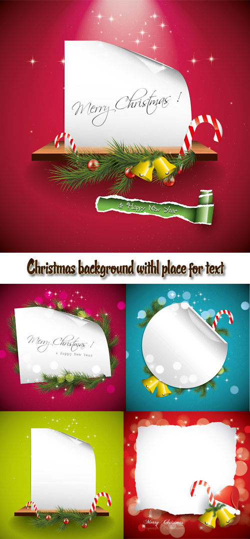 Stock: Christmas background with place for text