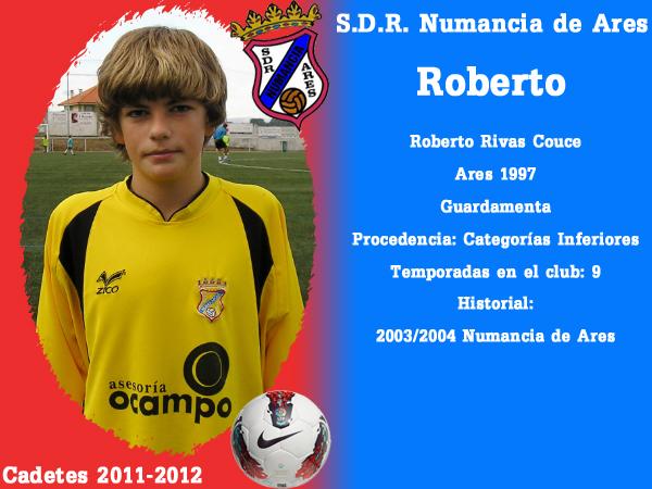 ADR Numancia de Ares. Cadetes 2011-2012. ROBERTO.