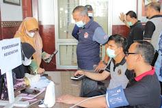 ASN Kantor Wilayah Kemenkumham Aceh screening kesehatan Dalam rangka HDKD 2021