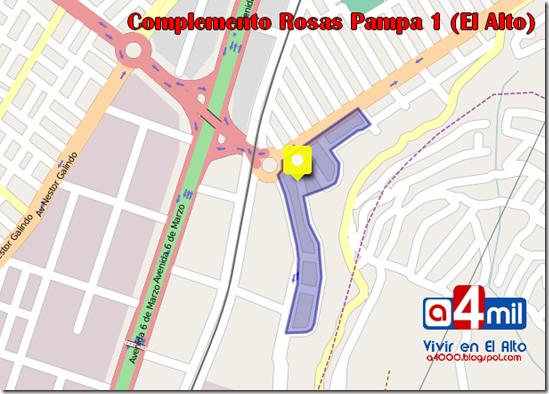 Complemento Rosas Pampa 1 (1994): zona del Distrito 1 de El Alto