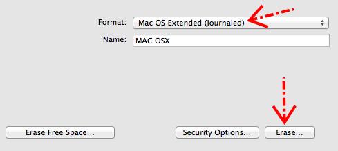Mengubah format dari FAT32 ke Mac OS Extended (journaled)