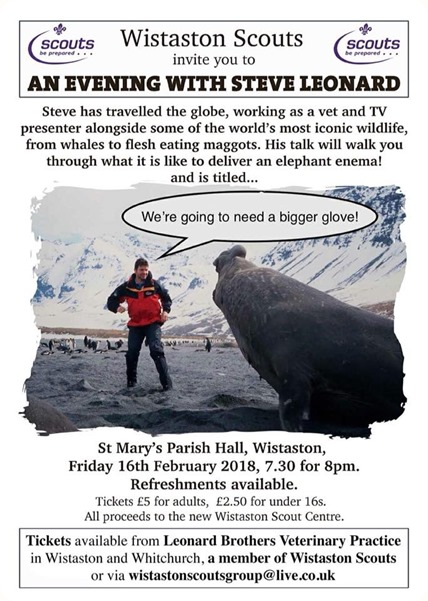 An evening with Steve Leonard – Fri 16 Feb 2018 - poster