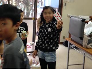 子供が引いたトランプカード
