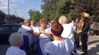 Szüreti felvonulás Jákó 2015 - Csököly tánc az utcán