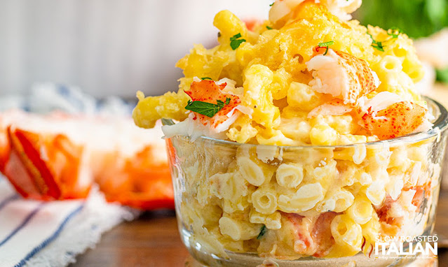 Bowl of Lobster Mac and Cheese