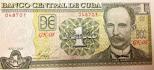 1 peso cubano JOSE MARTI 1 peso de JOSE