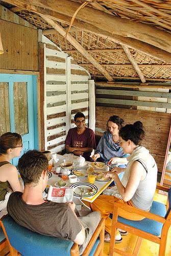 Dining at the resort