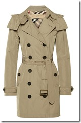 Burberry Brit hooded trench coat