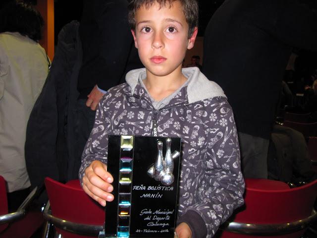 Premio a la peña bolística Manín