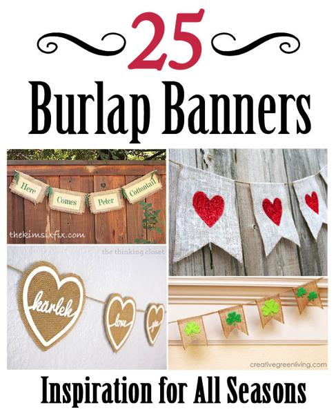 burlap banners