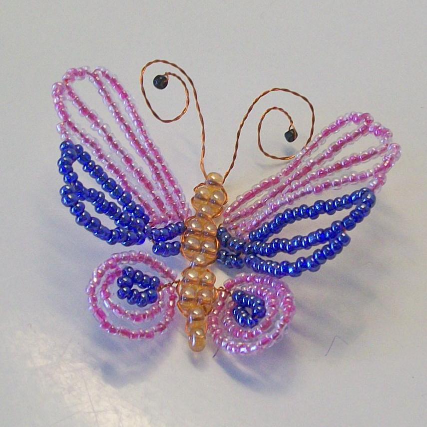 Бисероплетение для самых-самых начинающих  Бабочка 0dcbb61f35c08