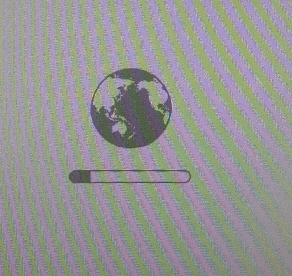 Spinning Globe in INternet recovery