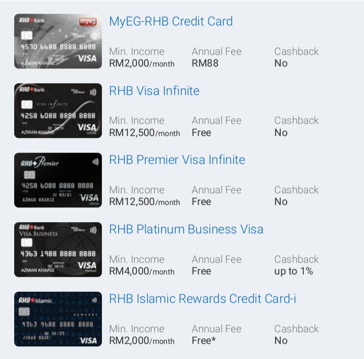 The Best Rhb Credit Cards