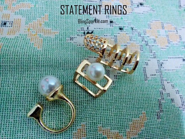 Pearl ring ,box ring, double pearl