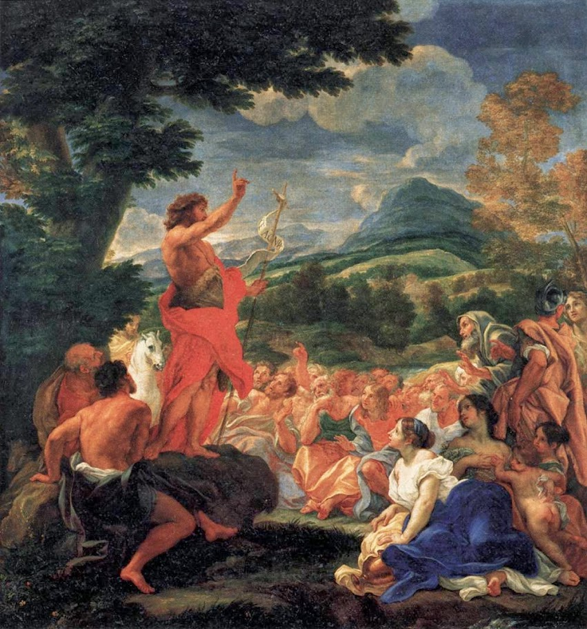 Baciccio - The Preaching of St John the Baptist