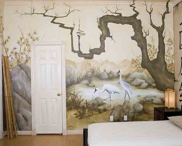 Gambar Lukisan Mural Dinding Kamar Terbaru