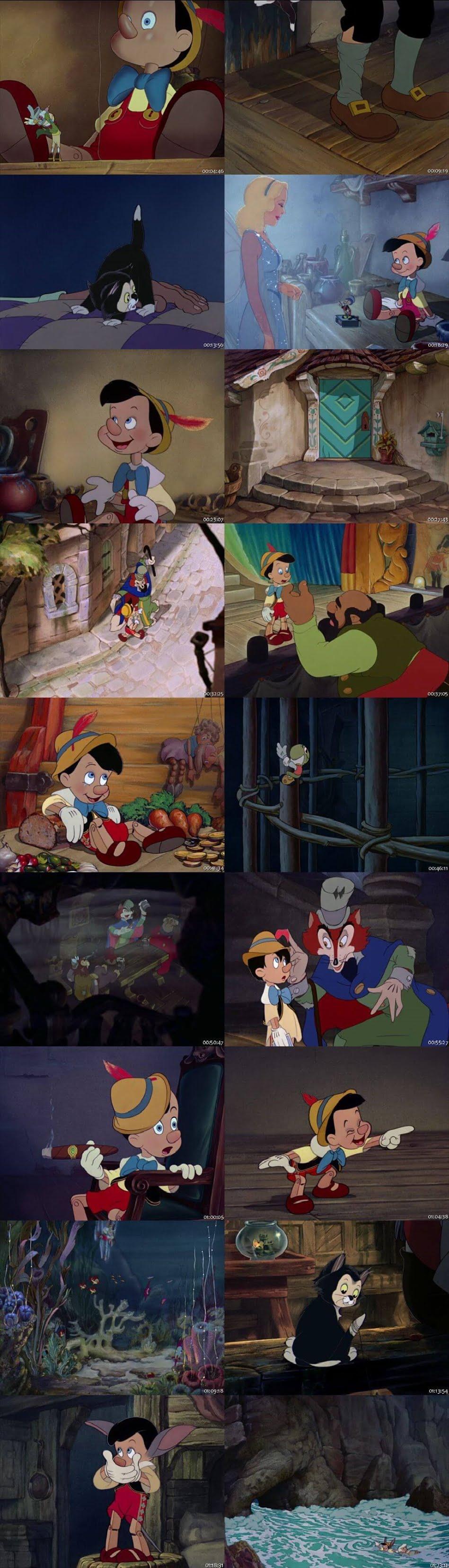 Screen Shot Of Pinocchio 1940 In Hindi English Dual Audio Bluray