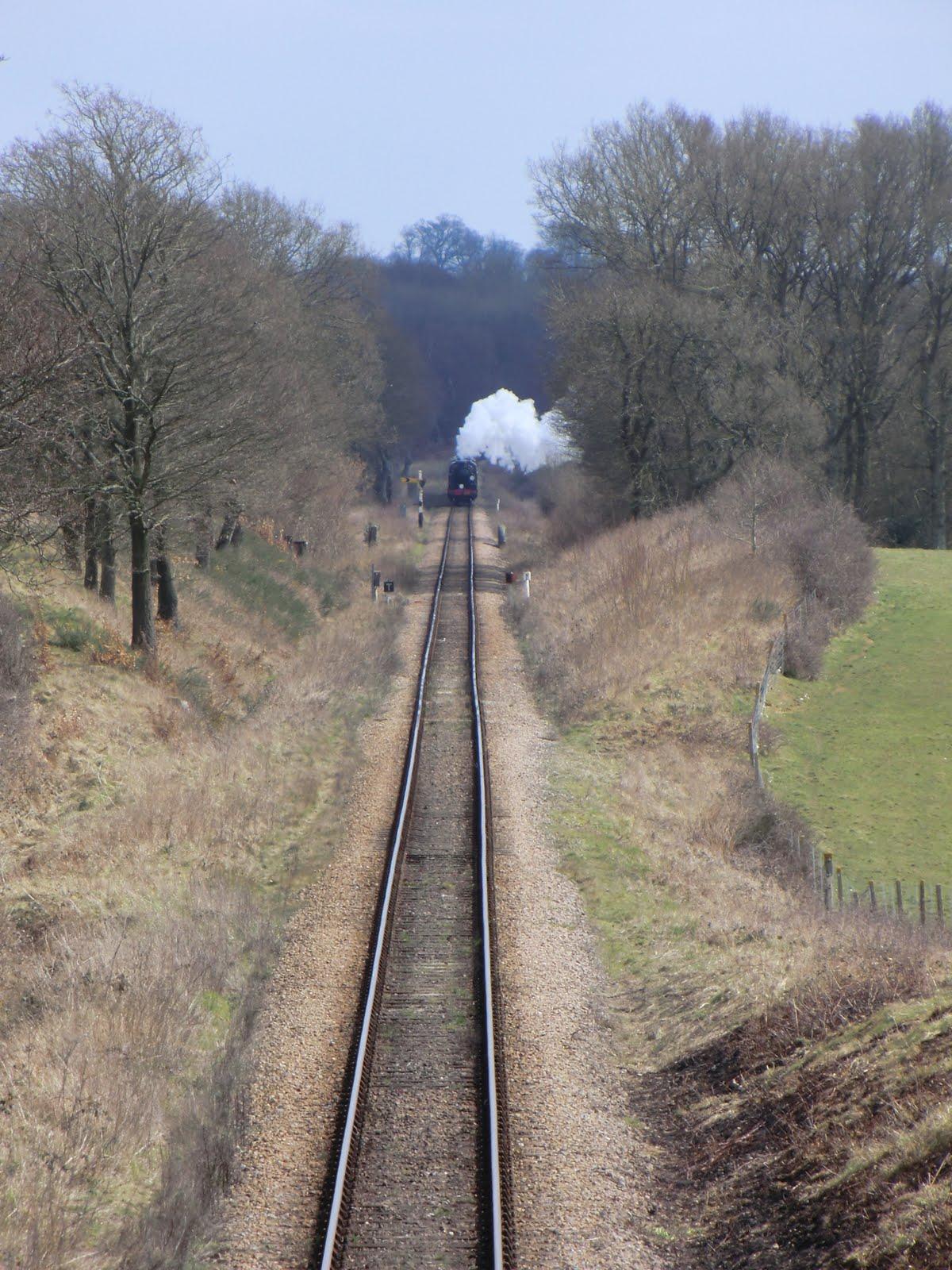 CIMG6168 Crossing the Bluebell Railway