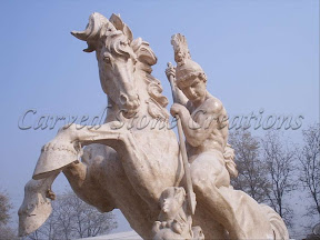 Figure, Horse, Interior, Male, Marble, Natural Stone, Statues
