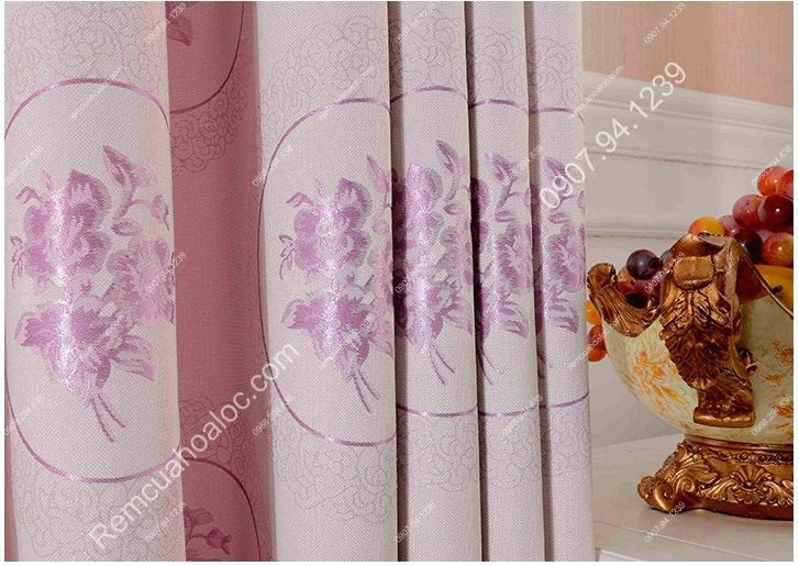Rèm cửa sổ đẹp giá rẻ họa tiết hoa trẻ trung 4