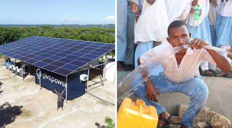 Solar-powered plant in Lamu