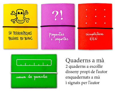 Quaderns de disseny fets a mà