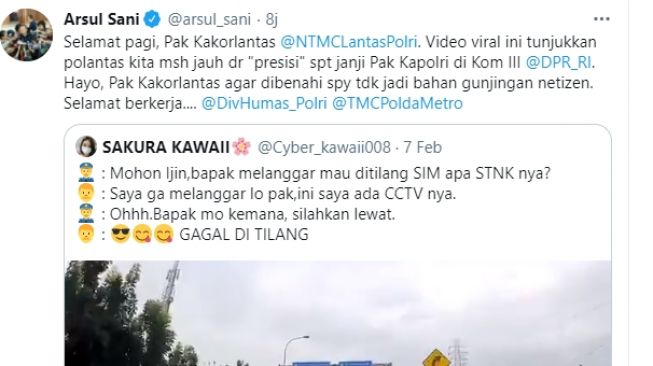 Viral Polisi Batal Tilang Mobil Berkamera, Arsul Sani Ungkit Janji Kapolri