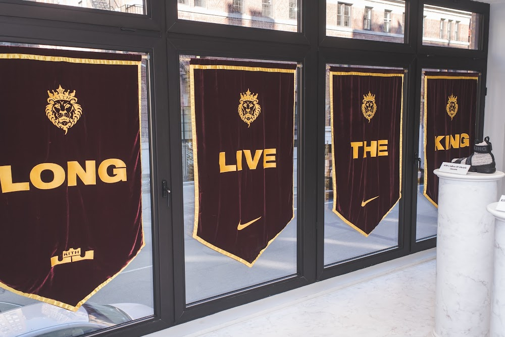 83fce3c128d7a ... Kith X Nike Long Live the King Setup in Soho for LeBron 15 Launch ...