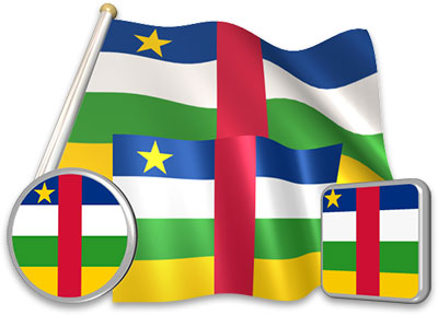 Central African flag animated gif collection