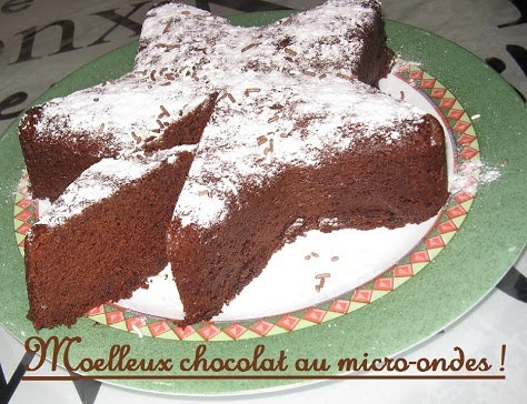 Moelleux chocolat au micro-ondes