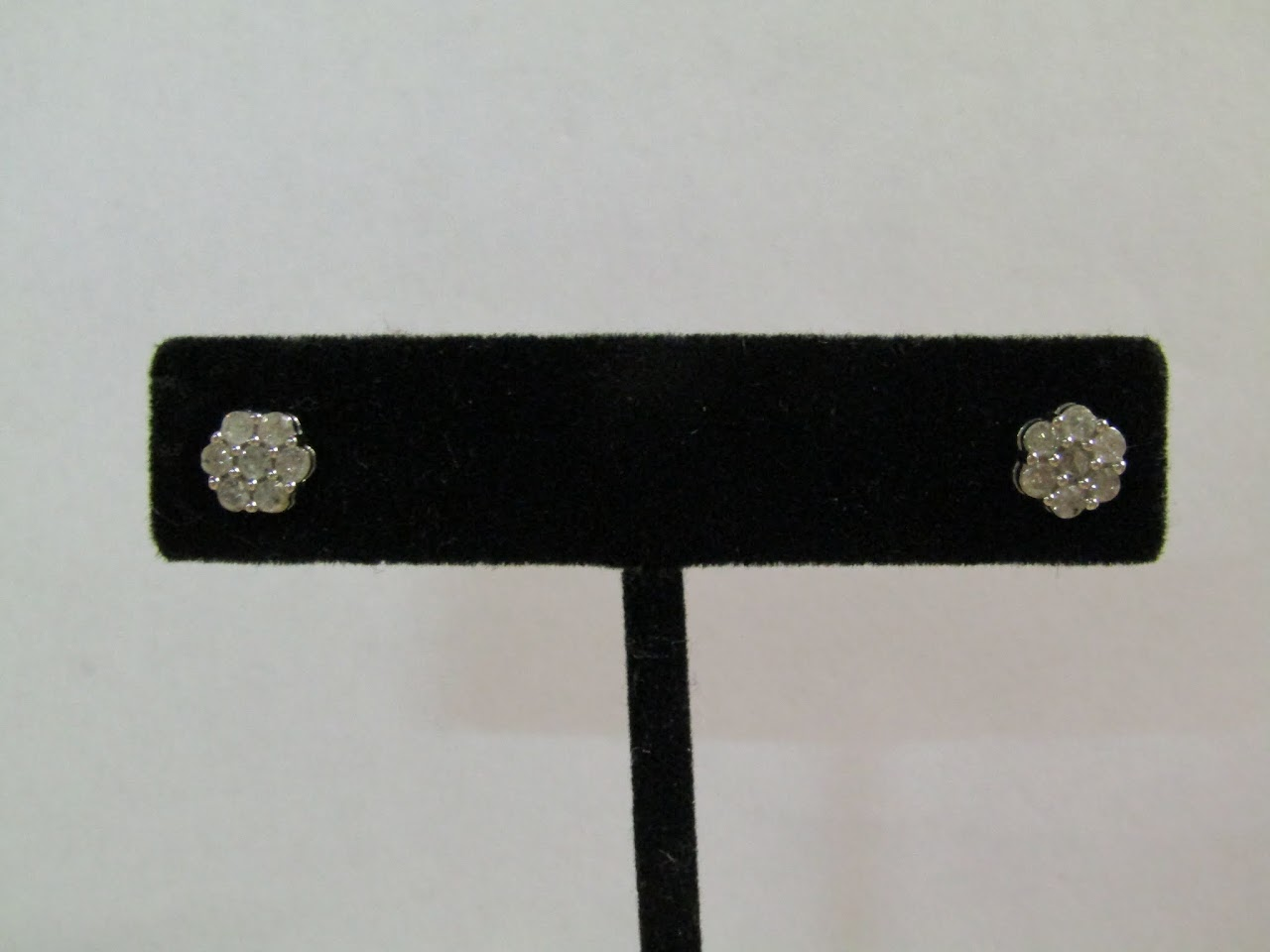 Diamond & Sterling Silver Studs