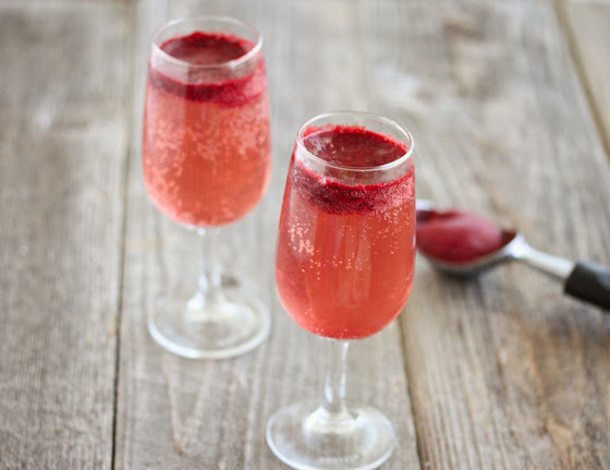 Sorbet Champagne Cocktails - Kirbie's Cravings
