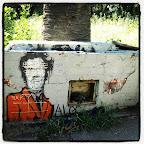 Runyon Canyon graffiti.