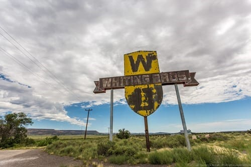 Whiting Bros New Mexico Sign Route 66